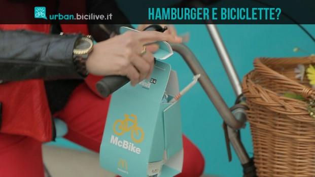 Hamburger, patatine e pedali: McBike, il fast food d'asporto per ciclisti