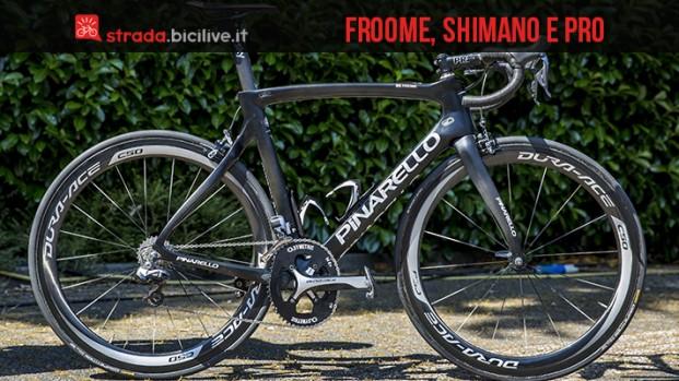 Froome con Shimano e Pro: il mix vincente