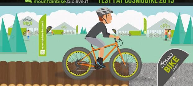 Prova le fat bike e ruote plus sull'anello grasso di CosmoBike Show