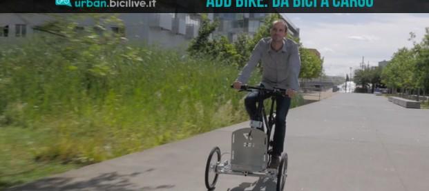 AddBike trasforma la tua normale bici in un triciclo cargo bike