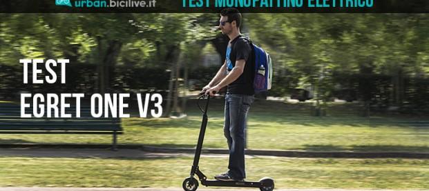 Test monopattino elettrico Egret One V3