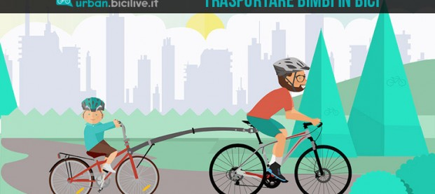 Il cammellino o appendice per il trasporto dei bimbi in bici