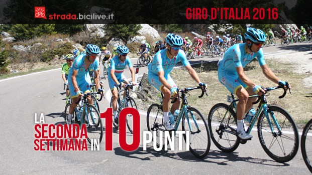 Giro d'Italia 2016, seconda settimana: 10 cose a ruota libera
