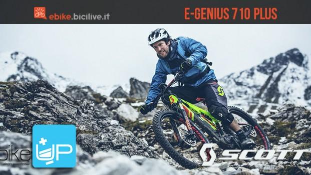 Divertimento assicurato per tutti con l'eMTB Scott E-Genius 710 Plus