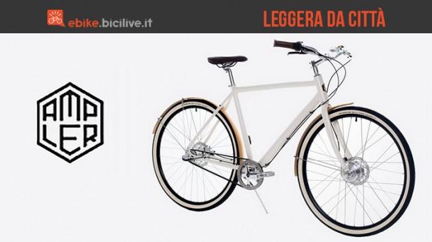 Ampler, la bici urbana a pedalata assistita che pesa appena 14 chili