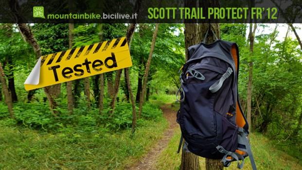 Test zaino mtb Scott Trail Protect Fr' 12 con paraschiena integrato