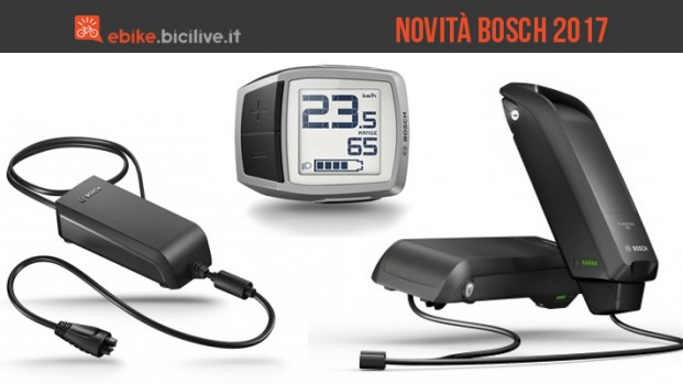 Bosch presenta tre novità per le biciclette elettriche nel 2017