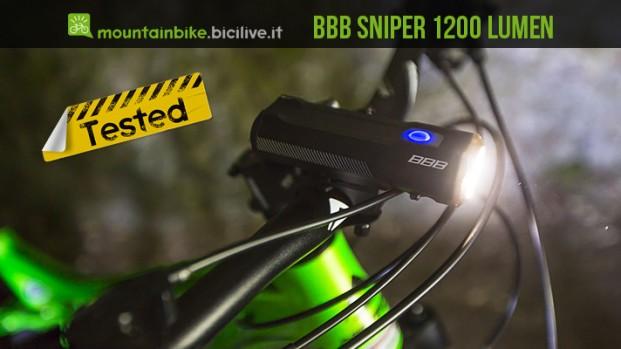Test faretto a led BBB Sniper, 1200 lumen per le uscite notturne