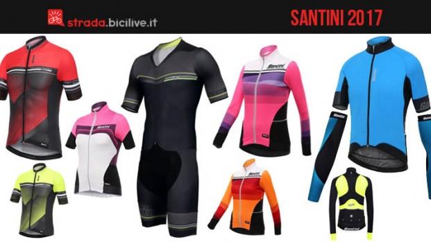 Catalogo abbigliamento ciclismo Santini uomo e donna per il 2017