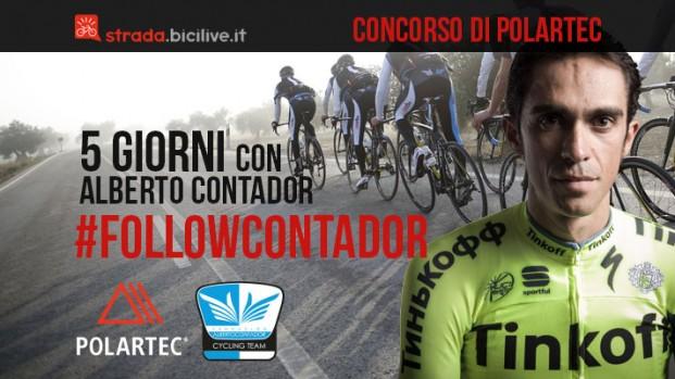 Concorso #followContador di Polartec: partecipa e vinci 5 giorni di allenamento con Alberto Contador