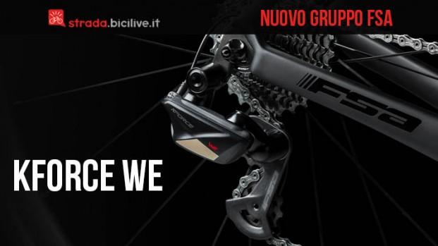 Nuovo gruppo elettronico wireless FSA K-Force WE per bici da strada