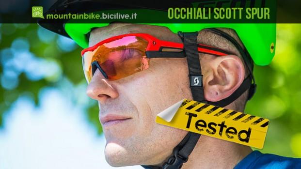 Test occhiali mtb Scott Spur, una lente XL per una visuale perfetta