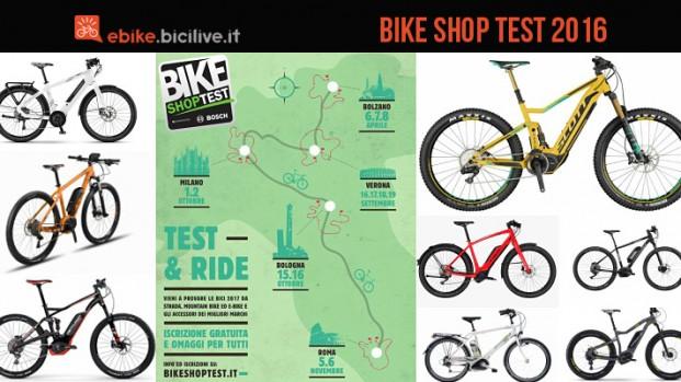 Bike Shop Test 2016: ecco tutte le ebike che potrete testare a Milano, Bologna e Roma