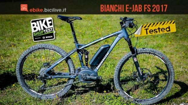 Bianchi E-Jab FS 2017, e-mtb full con motore Bosch CX