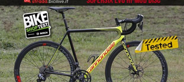 Test bici da corsa Cannondale SuperSix Evo Hi-Mod Disc Ultegra Di2 2017
