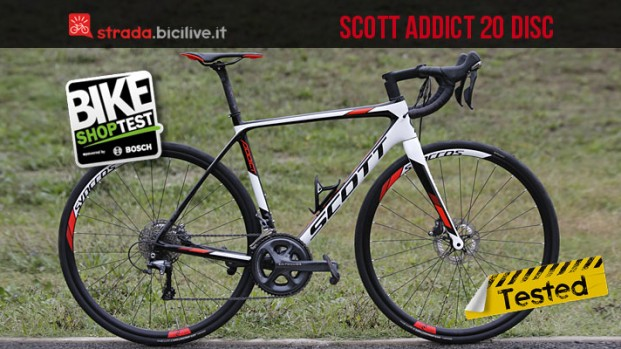 Test bici da corsa Scott Addict 20 Disc