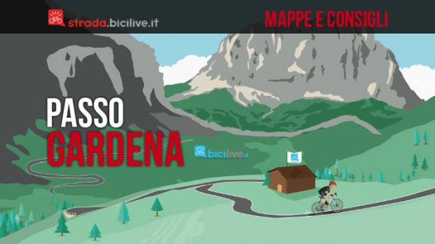 Passo Gardena in bici da corsa: mappe e consigli su come affrontarlo