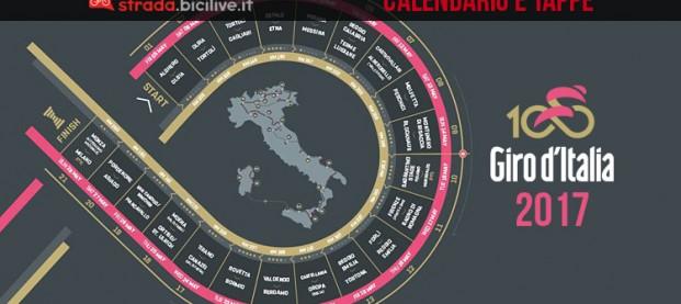 Le tappe del Giro d'Italia 2017