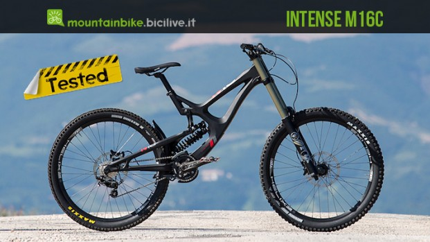 Test mtb Intense M16C Expert Build, downhill e carbonio al top