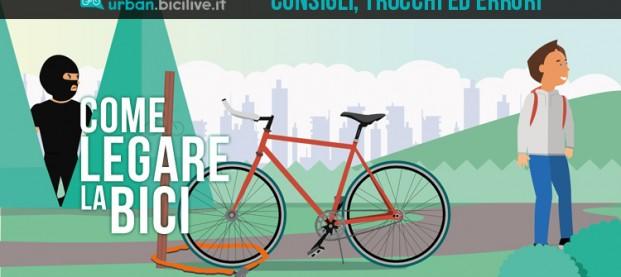 Consigli, trucchi ed errori nel legare la bicicletta