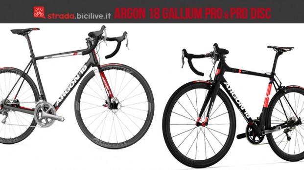 Bici da corsa Argon 18 Gallium Pro e Pro Disc, le nuove bdc dell'Astana Pro Team di Aru nel 2017