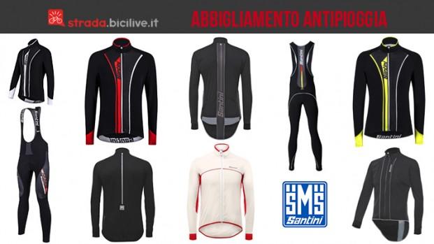 Abbigliamento bici antipioggia inverno 2017 di Santini: collezione Rain da uomo
