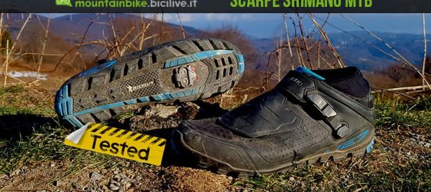 Test scarpe Shimano ME7: spd con suola Michelin