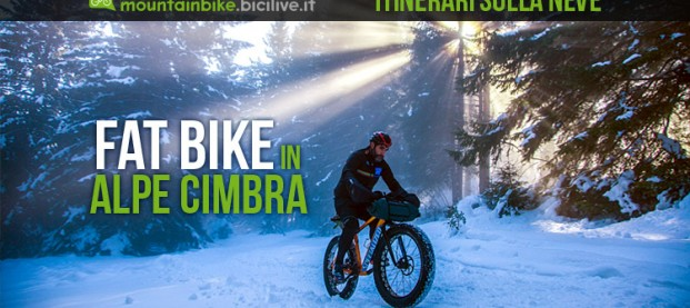 Alpe Cimbra: abbiamo provato i due itinerari preparati per fat bike