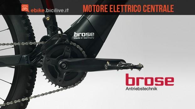 Motore elettrico centrale per bici Brose: integrato e silenzioso