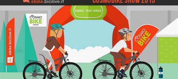 Vieni a provare le bici elettriche a CosmoBike Show 2015