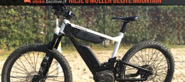 Emtb full a doppia batteria Riese & Müller Delite Mountain: autonomia da record