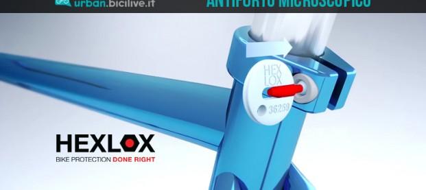 Hexlox: l'antifurto per selle e ruote microscopico e geniale