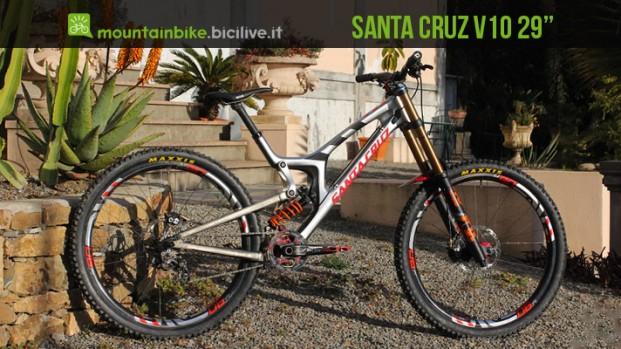 Santa Cruz V10 con ruote da 29″, il prototipo da downhill pronto per la Coppa del mondo