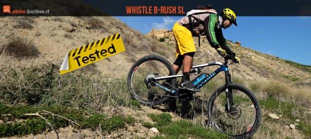 Test mtb elettrica biammortizzata Whistle B-Rush SL