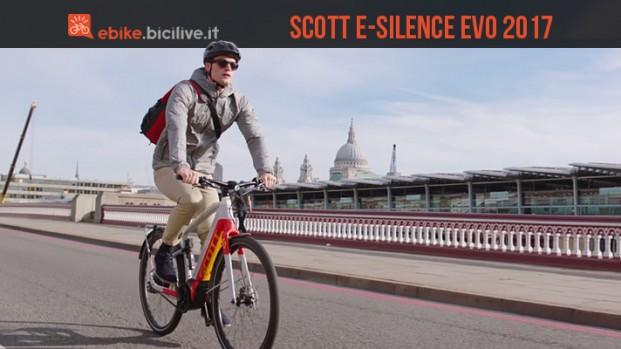 Scott E-Silence Evo 2017 motore Brose: un'ebike di design studiata per la città