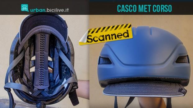 Test casco urban Met Corso con luce integrata