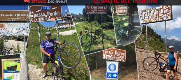 Le 23 mitiche salite del Trentino in bici da corsa