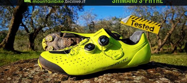 Test scarpe spd Shimano XC9, doppio Boa e suola Michelin