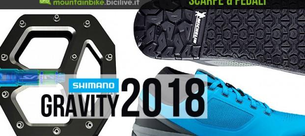 Shimano 2018: nuove scarpe e pedali flat e spd per gravity e all mountain