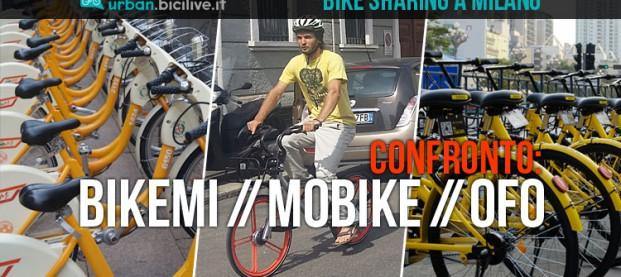 Bike sharing a Milano: BikeMi, Mobike e Ofo a confronto