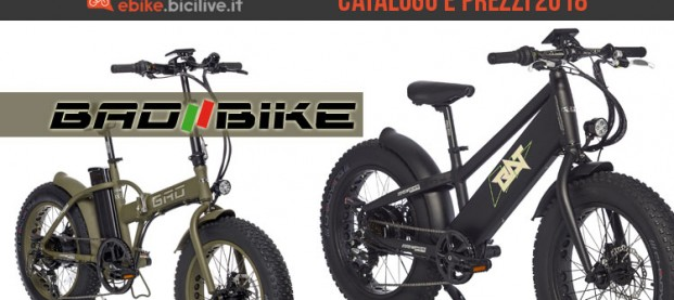 Bad Bike: catalogo e listino prezzi 2018 bici elettriche