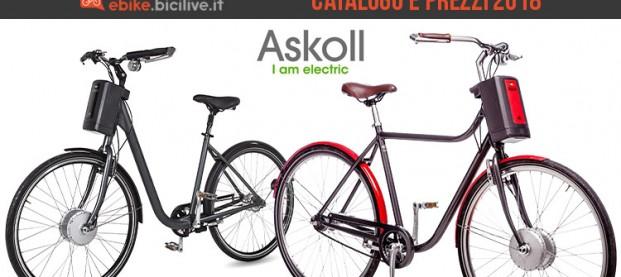 Askoll bici elettriche: la gamma e il listino prezzi 2018