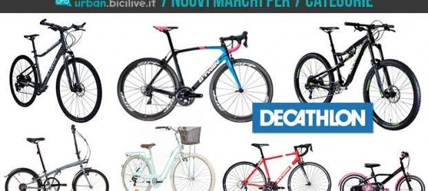 La nuova offerta Decathlon: 7 marchi per 7 categorie di bici