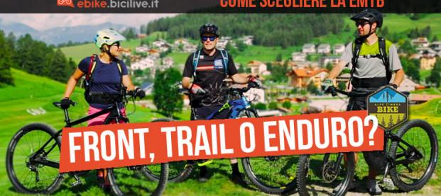 Come scegliere la eMTB: front, trail o enduro?