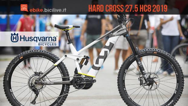 La nuova eMTB Husqvarna Hard Cross 27.5 HC8 2019