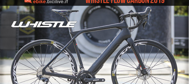 Whistle Flow Carbon 2019: bici da corsa con motore Fazua Evation