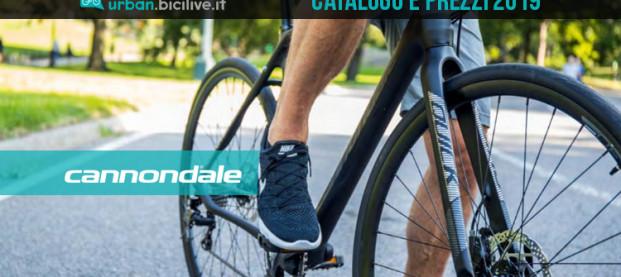 Le bici urban e fitness di Cannondale: catalogo e listino prezzi 2019