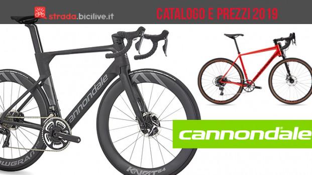 Le bici Cannondale da strada, cross e gravel: catalogo e listino prezzi 2019