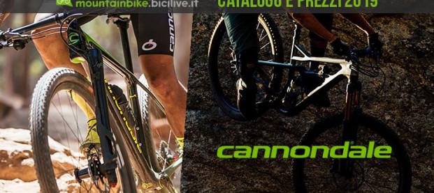 Il catalogo delle mountain bike Cannondale del 2019