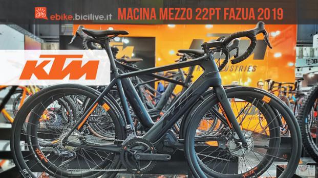 Ebike da strada KTM Macina Mezzo 22PT-Fazua 2019